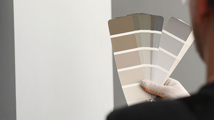 Man Deciding Paint Color